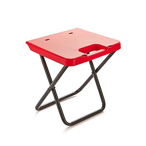 Select Zone Silla plegable de camping para exteriores, de aluminio, carga máxima de 80 kg, color rojo