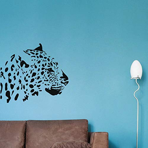 SAKHD Leopard Head Branch Wall Stickers Home Decor Living Room Sofa Background Wall Decalses Stickers 57cmX65cm