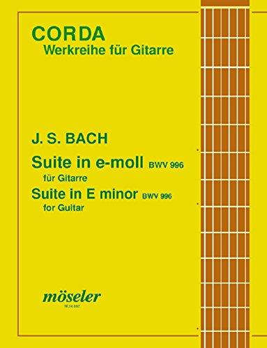 Suite e-Moll: BWV 996. Gitarre. (Corda)