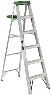 Louisville Ladder 6-Foot Aluminum Step Ladder, 225-Pound Capacity, AS4006