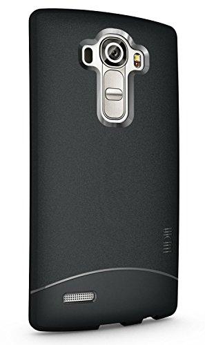 LG G4 Case, TUDIA Full Matte Arch TPU Bumper Protective Case for LG G4 (Black)
