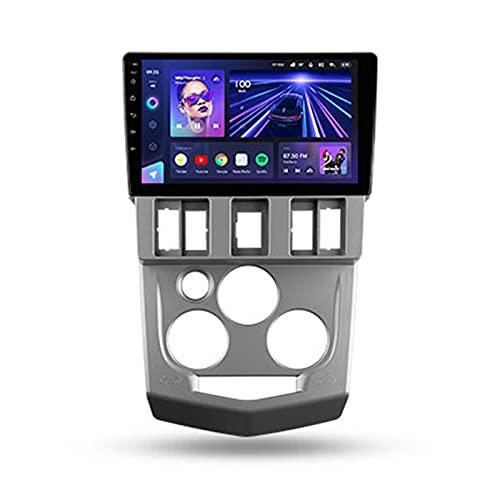 ADMLZQQ Android 10 Radio Carplay Für Renault Logan 1 2004-2009,9'' 1 DIN Autoradio Mit GPS Navi/Spiegel Link/Bluetooth/Lenkradsteuerung/4G LTE+5G WIFI/3D Echtzeit-Fahrdynamik/Rückfahrkamera,Cc3,3+32G