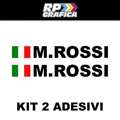 RP Grafica Coppia Adesivi Nome Pilota Stile Rally Stickers Auto Moto Tuning