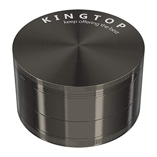 KINGTOP Herb Spice Grinder Large 3.0 Inch (Metal Black)