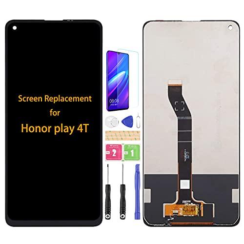 SRJTEK Compatible para Honor Play 4T Pantalla LCD AKA-AL10 AKA-TL10 Sensor de Pantalla Táctil Piezas de Repuesto Digitalizador Totalmente Asmebly Kits