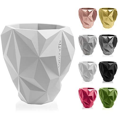 concrette Blumentopf Blumenkübel Zement-Pflanzkübel Übertopf aus Beton Geometric Ø 13 cm/Ø 19 cm/Ø 24 cm   17 Farben