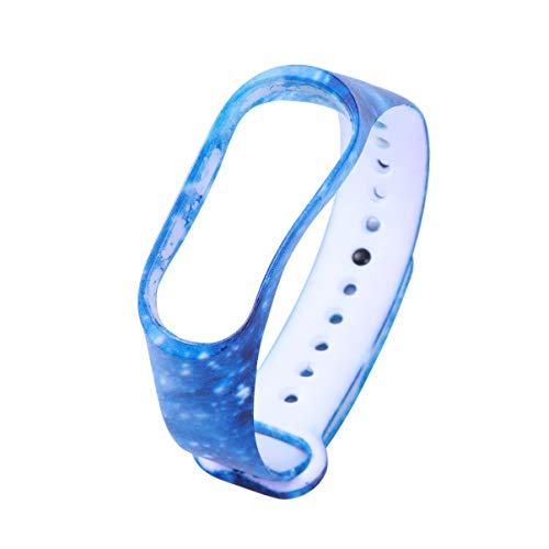 UKCOCO Fashion Protective Ersatz Ersatz Silikon Wriststrap Wrist Strap Wristlet für Miband 3 Xiaomi 3 Smart Bracelet Blue