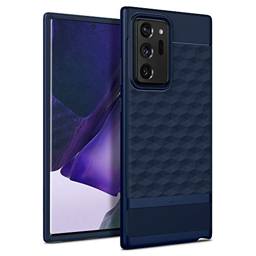 Hülleology Parallax Kompatibel mit Samsung Galaxy Note 20 Ultra Hülle Stylisch Blau 3D Muster & PC Rahmen Stoßfest Modische Handyhülle Hülle für Samsung Galaxy Note 20 Ultra - Midnight Blue