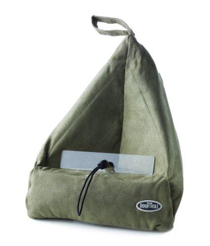 Book Seat 9346017000055 Lesesack/Buchstütze/Buchkissen/Tablet PC halter/Reisekissen mit Tasche, olive