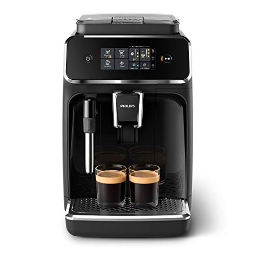 Philips Cafetera Espresso, color negro mate