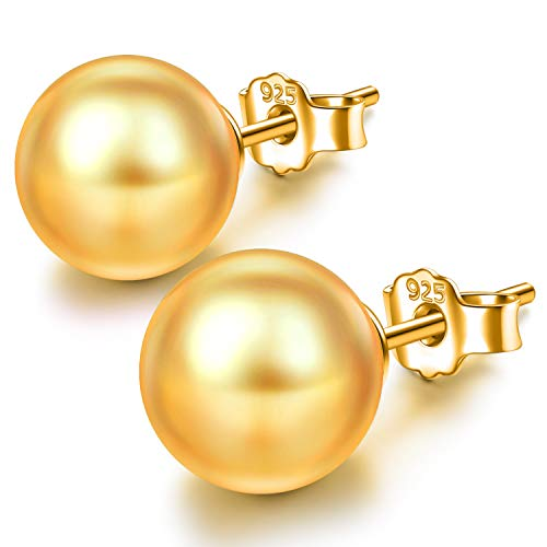 Susan Y Mutter Geschenke Ohrringe 925 Sterling Silber Perlenohrringe Ohrstecker Gold Perle Ohrringe für Frauen Ohrstecker Geschenke für ihre Mutter Schwester Damen Geburtstag Geschenke