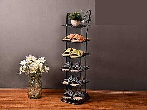 SHOE RACK Estante para Zapatos de 6 Niveles, a Prueba de Polvo de Hierro, Organizador de Zapatos de Pie, Buhardilla para Sala de Estar, Estantes de Almacenamiento Modernos Y Creativos, 18 X 26 cm (Co