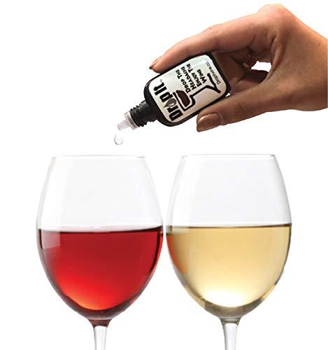 Drop It Weintropfen, natürlicher Weinsulfitentferner und Weintannin-Entferner, genießen Sie Wein wieder, funktioniert in nur 20 Sekunden, tragbar und diskret, eine Weinfilter-Alternative
