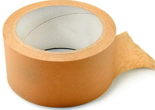 Packband Papier Klebeband Paketband braun 50m x 48mm paketband-papier(6 Rollen) - Umweltgerechtes Paketband aus Papier, mit biobasiertem natürlichen Material
