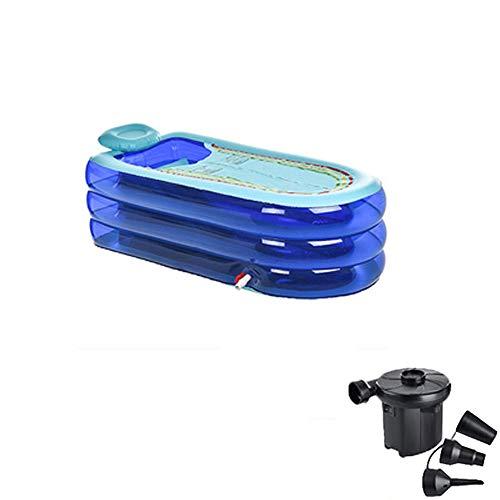 Inflatable tub Baril de Bain en Plastique épais pour Adultes, Portable et Pliable, avec Un matériau écologique en PVC