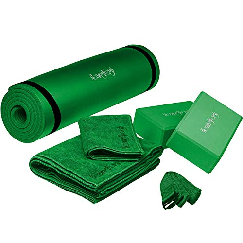HemingWeigh Yoga Kit and Sets for Beginners, Yoga Mat Set includes, Thick Yoga Mat with...