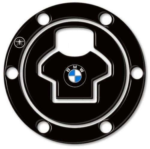 PROTEZIONE TAPPO SERBATOIO MOTO ADESIVO 3D NERO compatibile con BMW fino al 2006