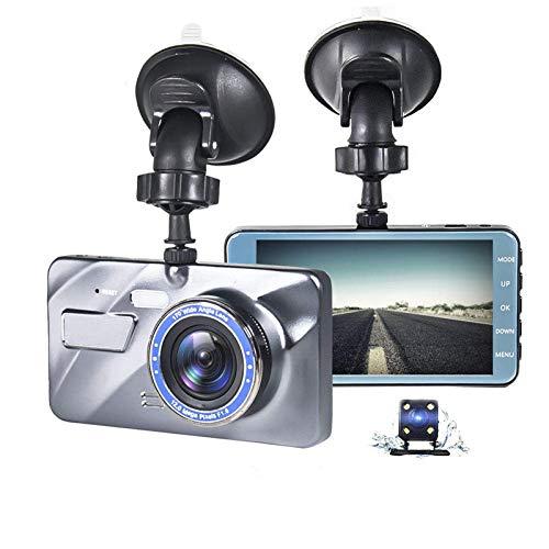 Grabador De DiscoGrabador De Video con Cámara De Salpicadero DVR para Coche De 4 PulgadasGrabación con Cámara Delantera Y Trasera