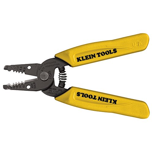 of hard wire cutters dec 2021 theres one clear winner Klein Tools 11048 Dual Wire Stripper Cutter for Solid Wire, Small , Yellow