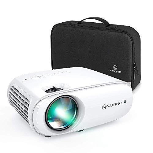 Videoprojecteur, VANKYO Projecteur Soutien 1080P Full HD Mini Retroprojecteur Portable Multimédia Home Cinéma Maison 2X HDMI VGA AV USB SD