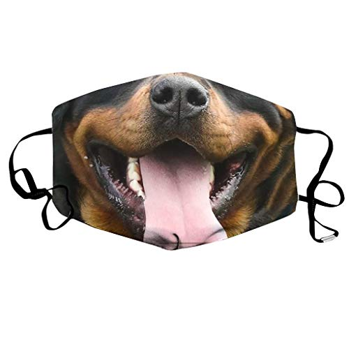 ZIYOU Unisex Sommer Animal Print Sportlicher Gesichtsschal Sonnenschutz Atmungsaktives Bandana(B, 18x11cm)