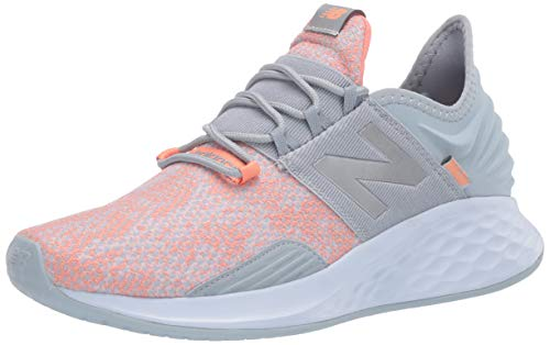 New Balance Women's Fresh Foam Roav V1 Sneaker, LIGHT SLATE/NATURAL PEACH, 8.5 M US 1