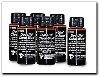 Tracer Dye-Lite Clear-Blue Dye, 8 oz, Case of (6) 1 oz. bottles (TP3920-0601)