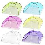 zhichy 6 unids/set pop-up malla pantalla alimentos cubierta tienda plegable paraguas comida cubierta red 6 piezas pop-up malla cubierta tienda