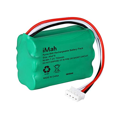 iMah Ryme B46 6-cell 7.2V AAA700mAh Ni-MH Rechargeable Battery Pack Compatible with Black&Decker FL3WBD Flashlight and TMK Light
