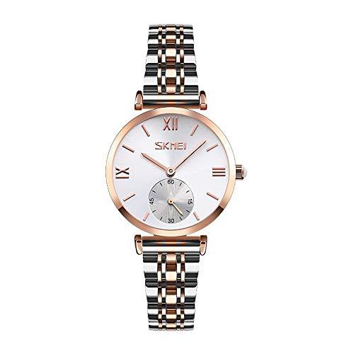 YIBOKANG Pareja Moda Casual Taladro De Agua Shell Shell Stone Stone Reloj Hombres Y Mujeres Simple Acero Cinturón Moda Impermeable Pareja Reloj (Color : G4)
