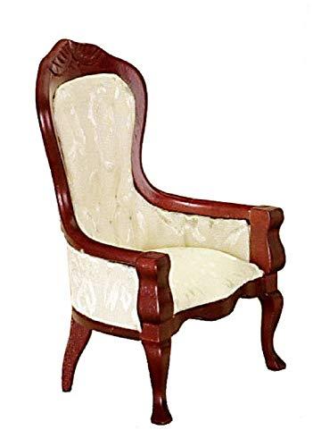 Melody Jane Casa de Muñecas Victoriano Blanco y Nogal Caballeros Silla Miniatura Muebles de Salón