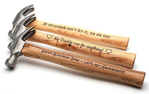 Personalisierter Gravierter Hammer, Vatertag Geburtstag Valentinstag Geschenk