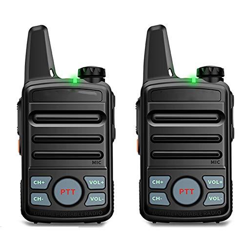 HGFDSA Mini Walkie-Talkie a Lungo Raggio, Radio Portatile Portatile con Luce LED Caricabatterie USB E Auricolari per Comunicazione in Bicicletta per Escursionismo per Adulti (Confezione da 2)