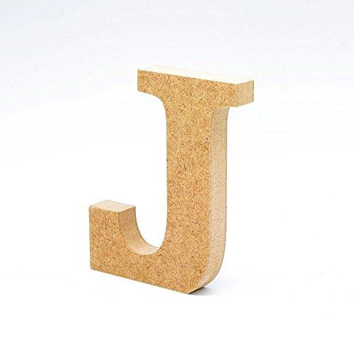 LA LLUNA ALWAYS CREATING Letras de Madera. Letras Grandes de Madera DM de 20cm de Alto para decoración y Manualidades. Disponible el Alfabeto Completo (J)