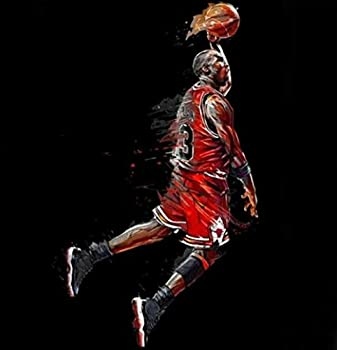 Basketball Star Jordan Diamond Painting - MaiYiYi 5D Full Round Diamond Painting by Numbers for Adults Crystal Diamond Kits Wall Decor Gift for Basketball Lover  30 x 30 cm