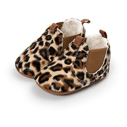 Bebe Zapatos de Primeros Pasos, Morbuy Otoño e Invierno 0-18 Meses Recién Nacido Cuna Suela Niño y Niña Blanda Antideslizante Zapatillas (2 / 12cm / 6-12 Meses, Estampado Leopardo)