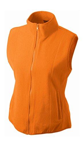 Girly Microfleece Vest in Orange Size: M