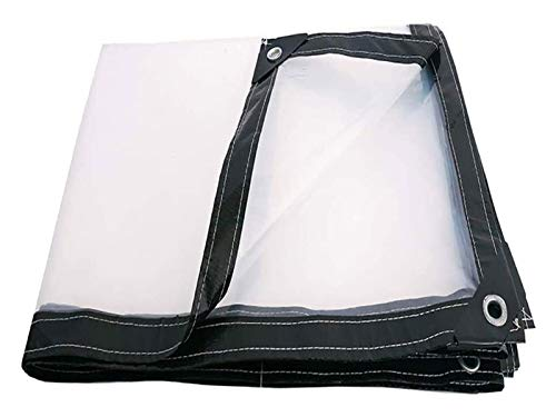 Heavy Duty Waterproof Tarp Tarps Heavy Duty Waterproof Clear, Transparent Poly Tarpaulin, Dustproof Rainproof Tarp with Reinforced Corners Anti-Aging Insulation Pe, for Vegetable Shed, Tent, Curtain 5