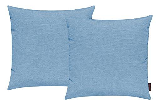 MAGMA Fino 2er Pack Kissenhülle ca. 50 x 50 cm hochwertig & knitterarm Farbe 32 Türkis (2er Set)