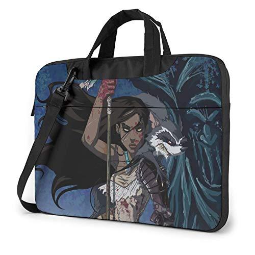 15.6″Lightweight Laptop Notebook Shoulder Backpack Bag Pocahonta-s Waterproof PC Briefcase Messenger with Strap