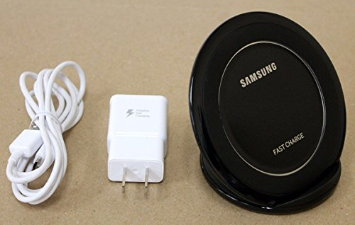 Samsung Fast Charge Wireless Charging Stand for QI Enabled Devices - Black (Renewed)