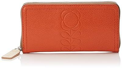 Orla Kiely Embossed Flower Leather Big Wallet Wallet