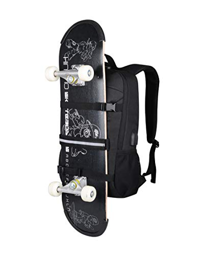 Laptop Backpack Skateboard Rucksack Water Resistant Men Boy 15.6 Inch.