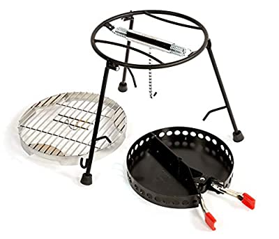 CampMaid Grill and Smoker (3 Piece) With Carry Bag