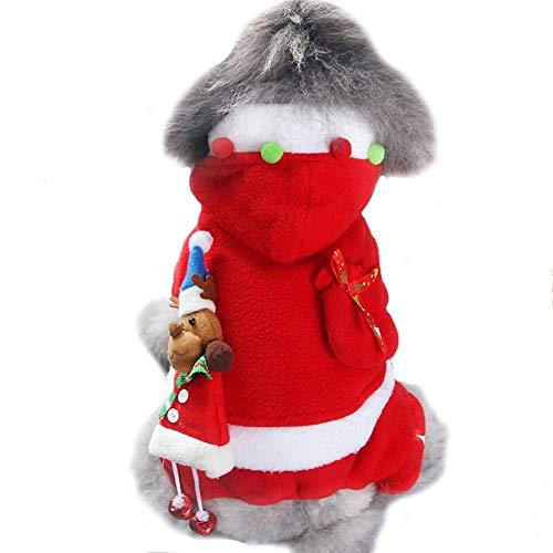 ZCY Huisdier Hond Kat Kleding Fancy Puppy Kerst Outfit Jurk Kostuum, XL, Meisje