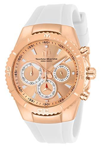 Technomarine Women's Sea Manta Stainless Steel Quartz Watch with Silicone Strap, White, 26 (Model: TM-218041)