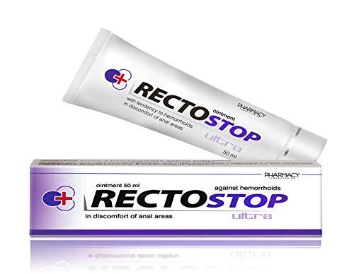 Pharmacy Laboratories Rectostop Ultra Akut Hämorrhoiden Salbe mit Applikator | 50 ml | Hilft bei Analbeschwerden | Geeignet für Erwachsene | Dermatologisch getestet | Nur für äußere Anwendung