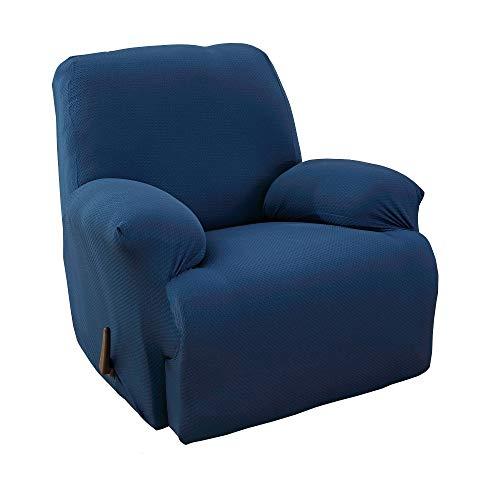 MarCielo - Funda elástica para sillón reclinable de una pieza, Azul
