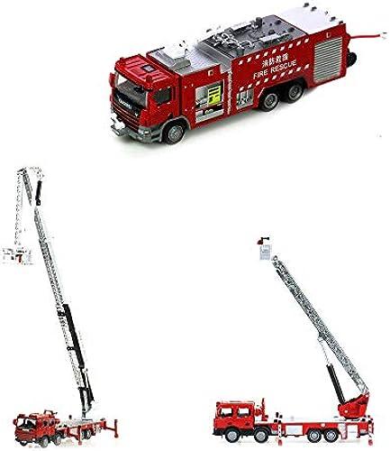 Ycco City Fire Burger Bar Rettungswagen Toy Play Set für Kinder mit Spielzeug Feuerwehrauto Leiterwagen und Wasserauto Figuren Kletterfahrzeug Feuerwehrautos für Kinder 3-tlg (Farbe   Suit)