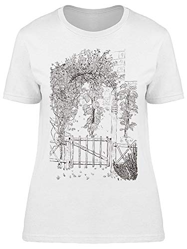 Secret Garden Door Camiseta feminina, Branco, 3X-Large